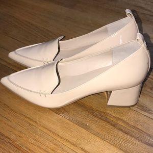 Ivanka Trump Pointed Toe Chunk Heel Patent Leather